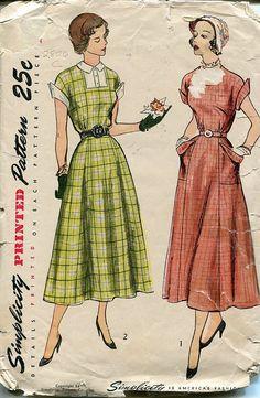 1940s Dress Pattern Simplicity 2806 Size 16 Bust by PengyPatterns, $20.00