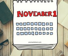 It's November 1st!  If you are gearing up for big retail sales, it's also time to plan your #marketing for Q1 2018. Don't fall behind this fall.  #marketingtips #marketingplans #marketingfirm #promarkdirect #mahwah #NJ