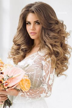 gorgeous hair down wedding hairstyle inspiration #weddinghair #hairdo #updohair #messyhairupdo #updoweddinghair #hairstyles #chignon #lowupdo #hairstyleideas #braids #braidupdo #hairdown #weddinghairdown #hairdownideas #bridalhair