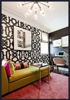 Shirley Meisels - love the wallpaper for aliyahs room with pink and green accents, looking for patterns something similar to this.