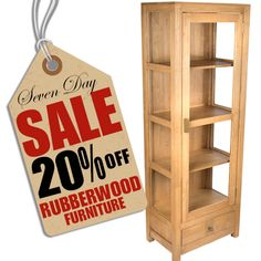Gorgeous Hand Crafted Rubber Wood Glass Display Case   Reduced From £386 To  £308.80
