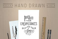 Hand Drawn Quote by Means For Makers on Creative Market #designtools #handlettering