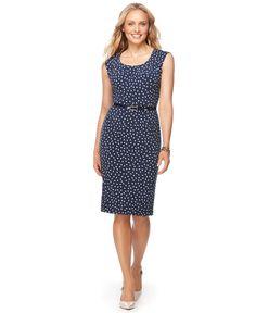 Macys.com Charter Club Intrepid Blue Sheath Dress