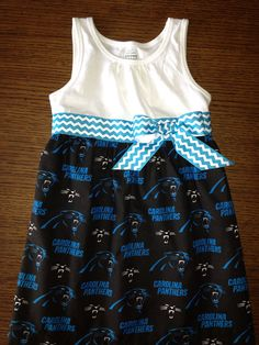 Carolina Panthers Dress on Etsy, $35.00