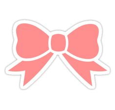 """""""Cute Pink Bow"""" Stickers by chemtrail 