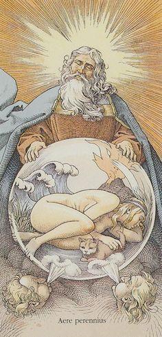 The World: Tarot of Dürer by Gaudenzi
