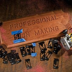 Produce countless enduring, classic signs with our instantly recognizable ''State Park'' Font sign-making system.  #woodworking