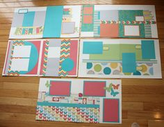 layouts by Debbie May using CTMH Dotty For You paper