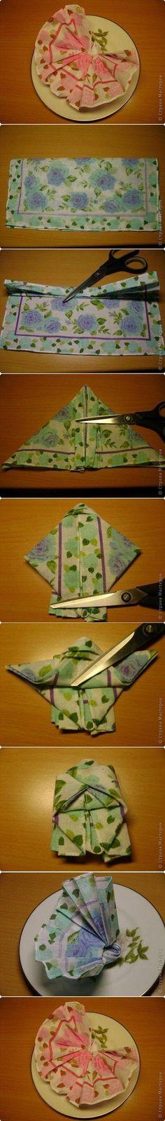 DIY Tutorial DIY Cloth Napkins / how to fold cloth napkins - Bead&Cord