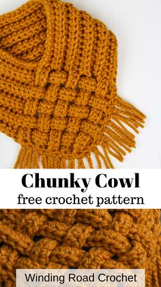Woven Cowl Free Crochet Pattern - Winding Road Crochet Quick and easy crochet cowl. Free crochet pattern by Winding Road Crochet. Crochet Cowl Free Pattern, Basic Crochet Stitches, Crochet Basics, Knit Or Crochet, Crochet Scarves, Crochet Shawl, Crochet Crafts, Knitting Patterns, Free Knitting
