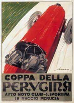 IV cup of PERUGINA vintage ad poster FEDERICO SENECA Italy 1927 24X36 rare