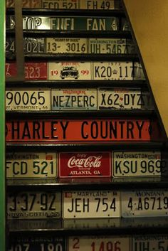 Stairs Clad with Licence Plates