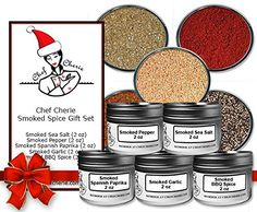 Chef Cherie's Smoked Spice Gift Set - Contains 5 2 oz. Tins - http://mygourmetgifts.com/chef-cheries-smoked-spice-gift-set-contains-5-2-oz-tins/