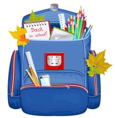 Blue School Backpack PNG Clipart