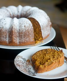 oatmeal pumpkin bundt cake...dust with powdered sugar, or make a glaze such as cinnamon-brown sugar, caramel or praline