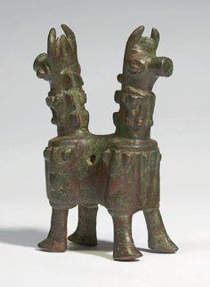 Iran,Elamite bronze artifact, ca 2nd millennium BC,metropolitan museum. تندیس برنزی، هنر عیلام ، هزاره دوم پیس از میلاد، موزه مترپلیتن
