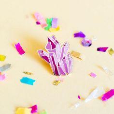 'Pink Crystal' Pin