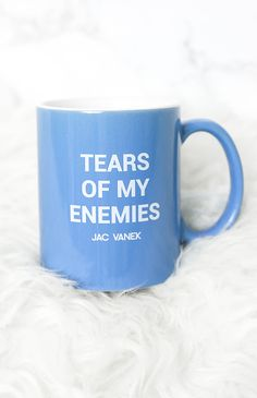 Jac Vanek - Tears Of My Enemies Mug - Blue | Apartment | Peppermayo