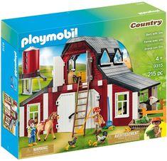 Playmobil Red Barn with Silo Farm Set ⋆ Metro Mom Club Train Playmobil, Playmobil Country, Paw Patrol, Loft Door, Toy Barn, Best Barns, Hay Bales, Door Sets, Farmhouse