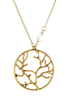 Round Branch Charm Necklace by mariechavez on @HauteLook