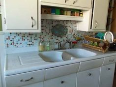 Make a New Kitchen Backsplash with Patterned Contact Paper