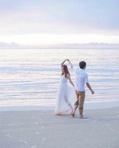 I wanna dance with u as long as I can. #seenuanta #prewedding #intaphotographer #pastel #sea #thailandphotographer #thailandweddingexpert #thailandbeach #phangnga we capture your #love anytime anywhere. #dance #wedding