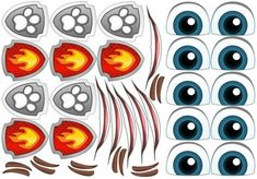 Jessica Flores, Ballon Decorations, Eye Stickers, Cartoon Eyes, Dragon Eye, Eye Tutorial, Eye Art, Collage Sheet, Paw Patrol