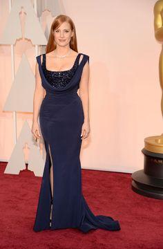Actrices sobre la alfombra roja de los Oscar 2015: ¿Quién es la más elegante? Jessica Chastain