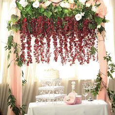 The selection of flowers takes an important place for event decoration arrangements. It is amazing how something as simple as flowers can drastically enhance the look of your event. Make your wedding outstanding with our beautiful collection of flowers Diy Wedding Flowers, Garland Wedding, Wedding Flower Arrangements, Floral Centerpieces, Floral Wedding, Fall Wedding, Wedding Backdrops, Bridal Flowers, Hanging Garland