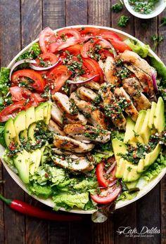 Grilled Chimichurri Chicken Avocado Salad