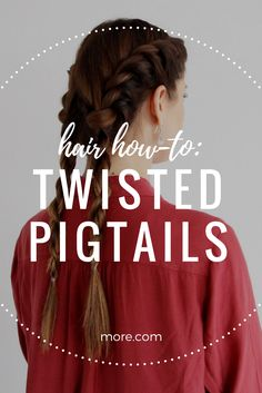 These twisted pigtails combine a French braid and rope braid for one gorgeous hair tutorial.