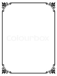 Stock vector of 'simple ornamental decorative frame'
