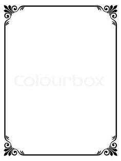 Stock Vector Of Simple Ornamental Decorative Frame