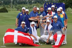Team Europe celebrates with the Eurasia Cup after they beat Asia during the 2016 Eurasia Cup at Glenmarie G&CC on January 17, 2016 in Kuala Lumpur, Malaysia.