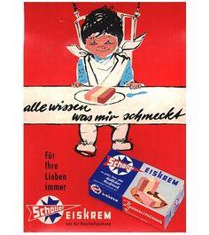 Nostalgie: Historische Eis-Plakate: Zurück in die Eis-Zeit! Schöller