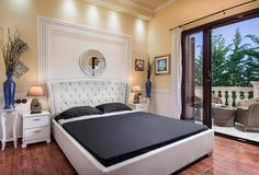 Pandis Palace Luxury seafront holiday Villa in Crete Crete Chania, Palace, Villa, Luxury, Bed, Furniture, Gallery, Holiday, Home Decor