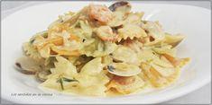 Los sentidos en la cocina: LAZOS CON CREMA MARINERA