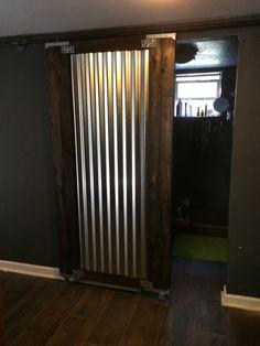 Galvanized Metal Indoor Walls Corrugated Metal Barn Door