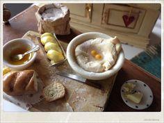 Fresh Homemade Bread Preparation Board - Dollhouse Miniature Food. €35.00, via Etsy.