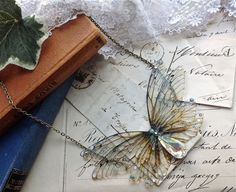 Pretty double Faerie wing Necklace by UndertheIvy2 on Etsy, £29.50