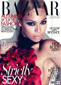 Up Close with Beyoncé in the Sep 2011 Harper's Bazaar