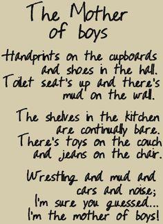 Mother of Boys Primitive Cookie Jar. $45.00, via Etsy.
