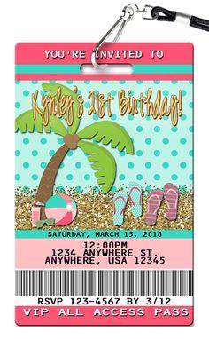 Flip Flop Birthday Invitations