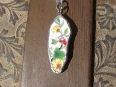 Pretty China pendant  necklace by AzureJoyeria on Etsy