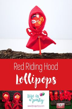 Instead of dumping all the sweets in one bag, what about being a bit creative en let them help enhancing the theme of your party. Red Riding Hood is just one of those themes where you can add that something extra that makes it look super awesome. So I am making lollipop Red Riding Hood! … Continue reading Lollipop Red Riding Hood Red Riding Hood Party, One Bag, Little Red, Christmas Ornaments, Holiday Decor, Continue Reading, Birthday, Creative, How To Make