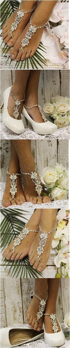 ANGEL wedding barefoot sandals