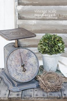 Vintage Kitchen Scale Gets A Dramatic Makeover With Chalk Paint