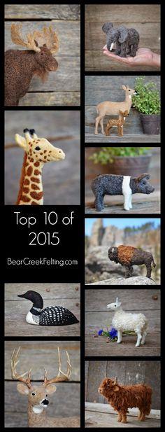 Top 10 Needle Felted Sculptures of 2015 by Teresa Perleberg