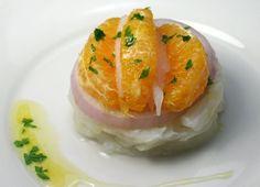 Ensalada de bacalao con pilpil de naranja