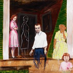 American artist Amy Pleasant explores the concept of family within her latest artworks. Her paintings capture a moment in a family's history; a piece of frozen time salvaged from photograph albums.